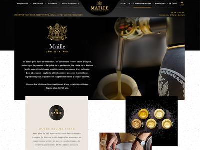 Maille navigation gold dark webdesign typo color food design web