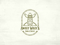 Hand drawn Vintage logo For Soda & Sweet Store