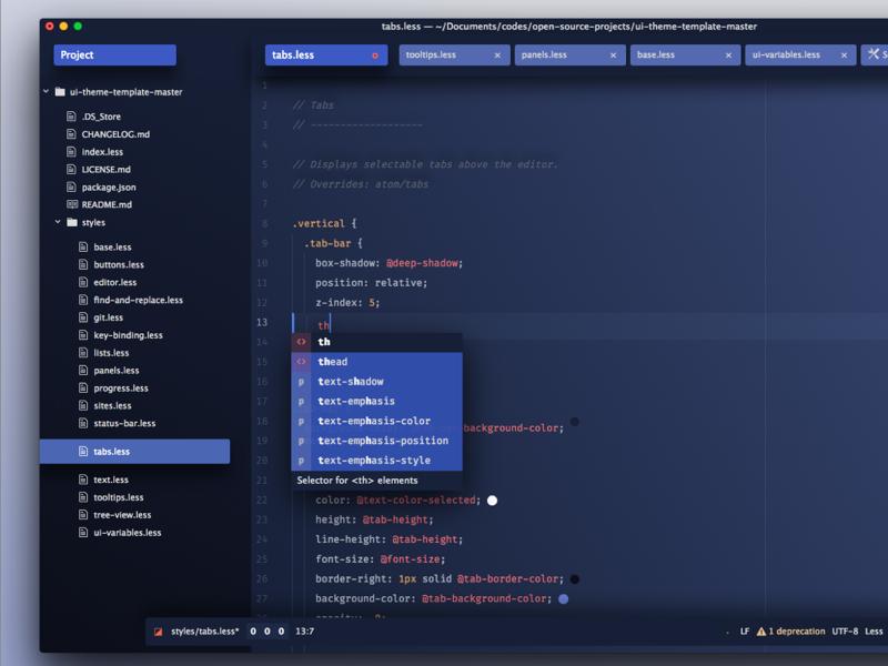 Atom Theme launching soon... text editor code ui theme syntax atom