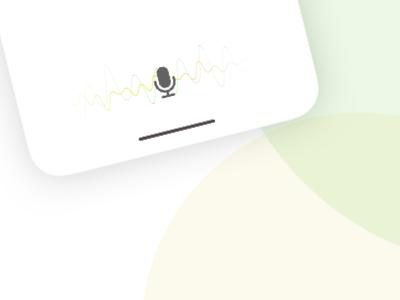 Audio input vector input chat minimal mockup mic audio iphone x iphone app