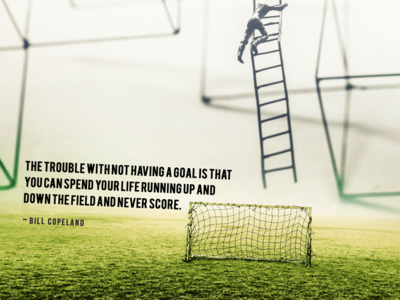 Have a goal football goals typography marketing quote photoshop