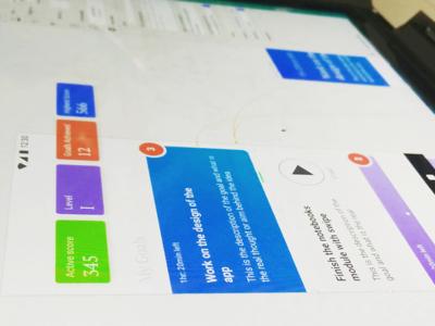 Goals App tasks score gradient card goals ios android app