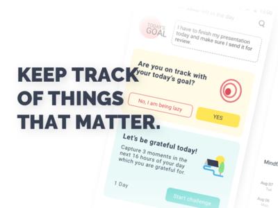 DoRemember app stats productivity goal notifications design app minimal