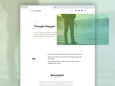 Doremember Blog new design reading website heading article blog typography white space gradiant
