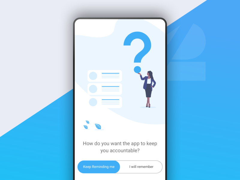 Choose Notification question notification ux ui mobile toggle quote goals blue app