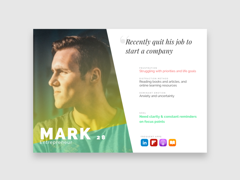 User Persona Sample profile gradient clean research card user user experience persona
