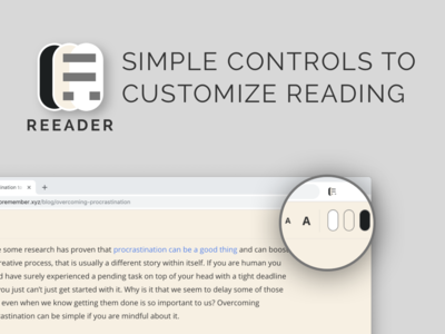 Reeader - Minimal & Open source reader for Chrome chrome extension theme toggle text minimal reader reading article chrome