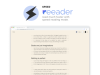 Speed reading mode - Reeader web browser chrome reading reader text typogaphy