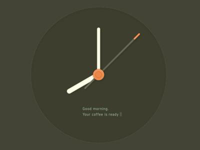 Digital in Analog clock