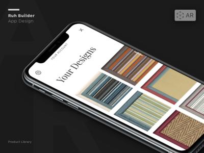Crucial Trading Rug Builder mobile app mobile design graphic design augmented reality ux ui design app design