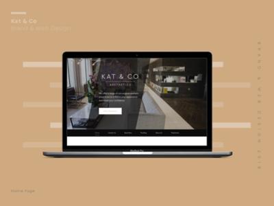 Kat   Co graphic desgin design agency webdesigner website design branding brand header homepage website design webdesign