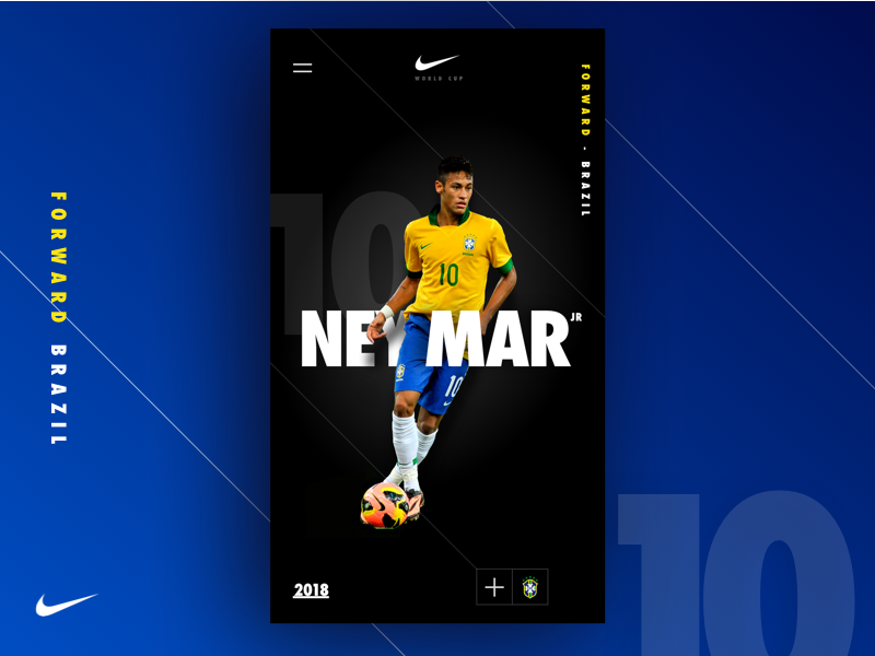 World Cup 18 - Nike Concept app mobile visual design nike brazil football ux design inspiration concept ui neymar