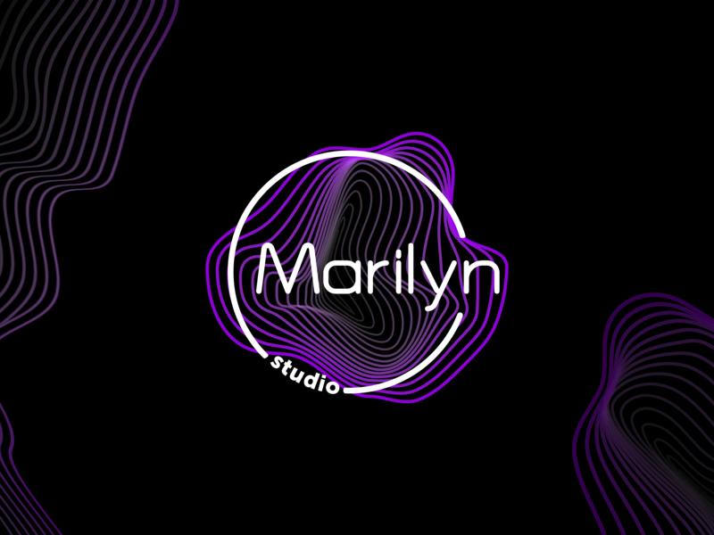 Marilyn style beauty salon beauty studio neon black brand design logo design