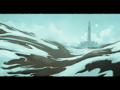 Arctic Base snow arctic cold frozen illustration