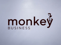 Monkey business logo concept