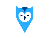 Location pointer + owl logo concept