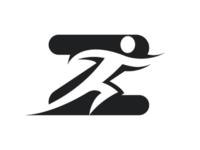 Z+running man logo concept