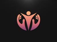 Hands+human logo concept
