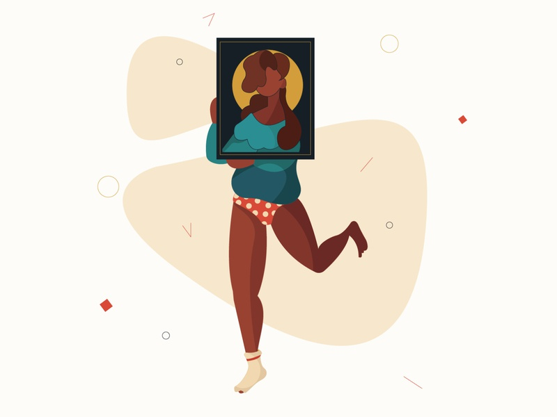 Hello Dribbble human body character design character illustrator minimal flat web vector design illustration