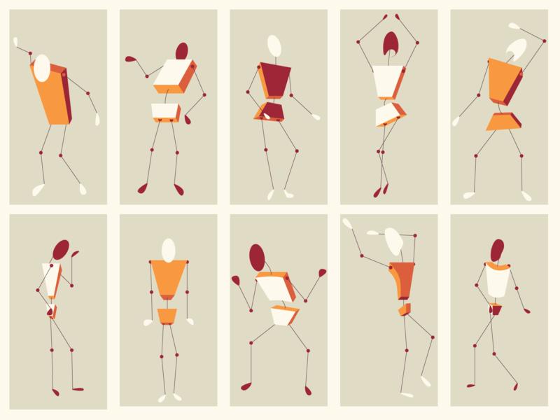 Figures figure simplistic minimal body parts design human body character design character vector illustrator illustration