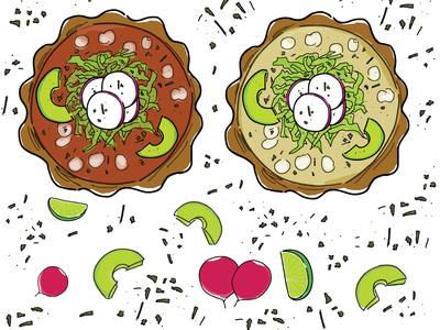 Pozole drawing white hominy maíz radish avocado mexican shutterstock soup pozole mexican food food vector illustration