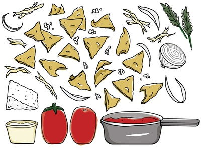 Chilaquiles rojos drawing recipe cook sketch cartoon chilaquiles rojos chilaquiles vector shutterstock mexican food mexican illustration food