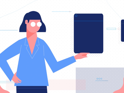 AraneoBit vector illustration icon chracter 2d animation after effect 2019 trend motion gif solovey studiosolovey