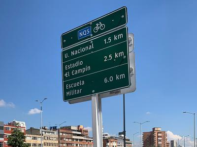 Sistema de Navegación Ciclista ux pedestrian cyclist bogota signage wayfinding