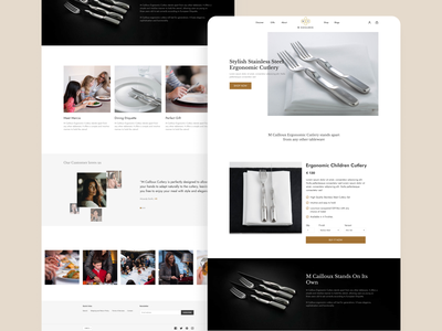 M Cailloux - A Cutlery Store store ecommerce web web design website ux ui mobile dribbble design app