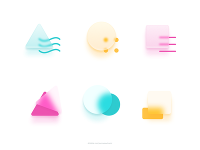 Glassmorphism explorations interface concept vector minimal icon design clean sketchapp sketch set colorful exploration icons uiux ui glassmorphism frosted glass blur frosted