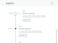 Working on a a events widget