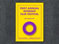 Enamel Pin For Intersex Film Festival