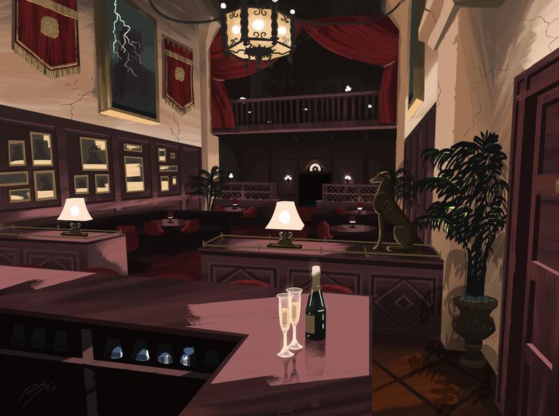 The Tip Top Club design theme park walt disney world theme parks disney illustration