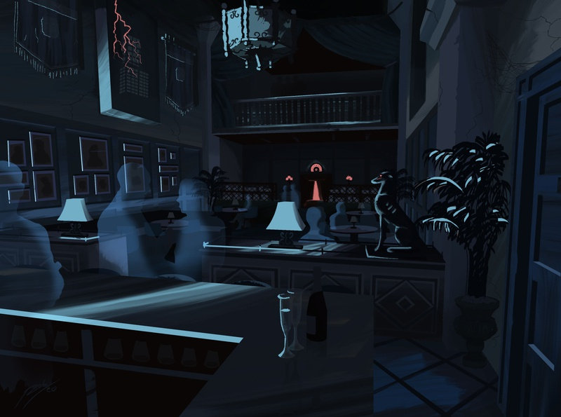 The Tip Top Club - Effect Lighting theme park walt disney world theme parks disney illustration