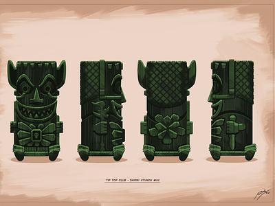 Shiriki Utundu Mug mug tiki alcohol theme park walt disney world theme parks disney illustration