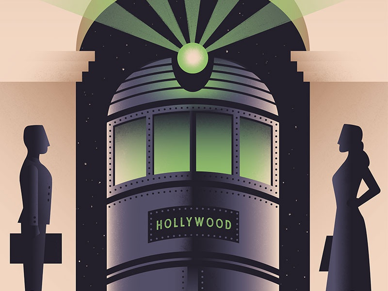 Terror Tracks twilight zone horror rollercoaster train poster wpa 1930s theme park illustration