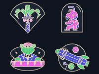 Tomorrowland 1994 Pins