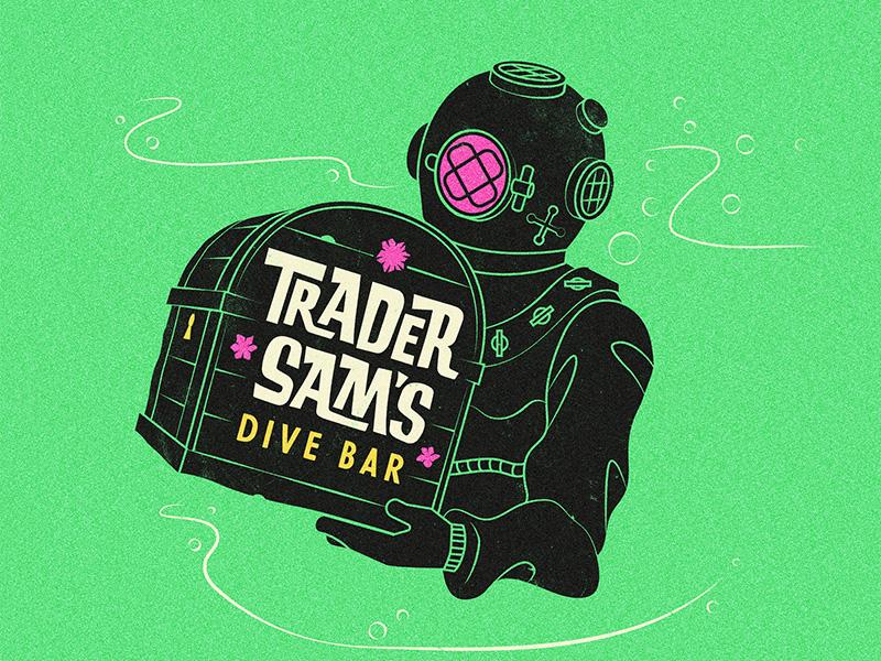 Trader Sam's Dive Bar ocean chest diver bar tiki trader sams disney