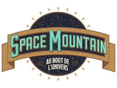 Space Mountain: To The Edge Of The Universe victorian steampunk stars logo sign disneyland paris disney space mountain