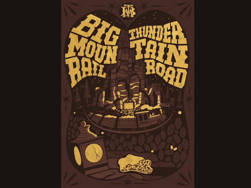 Big Thunder Mountain western print illustration magic kingdom walt disney world disneyland disney theme park