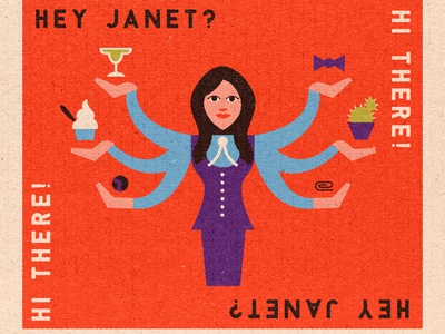 Janet tv czech retro matchbook illustration the good place janet