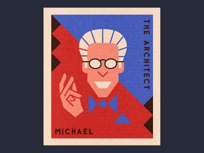 Michael matchbook design tv illustration the good place