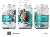 Stubby Cooler design for 'Spill The Beans' stallion