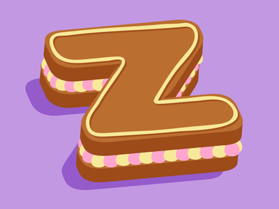 Z pastry cake 36days typography 36 days of type lettering vector design 36 days of type illustration