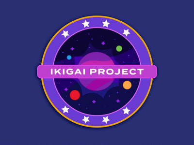The Ikigai Project cosmos vector weeklywarmup badge patch space design illustration
