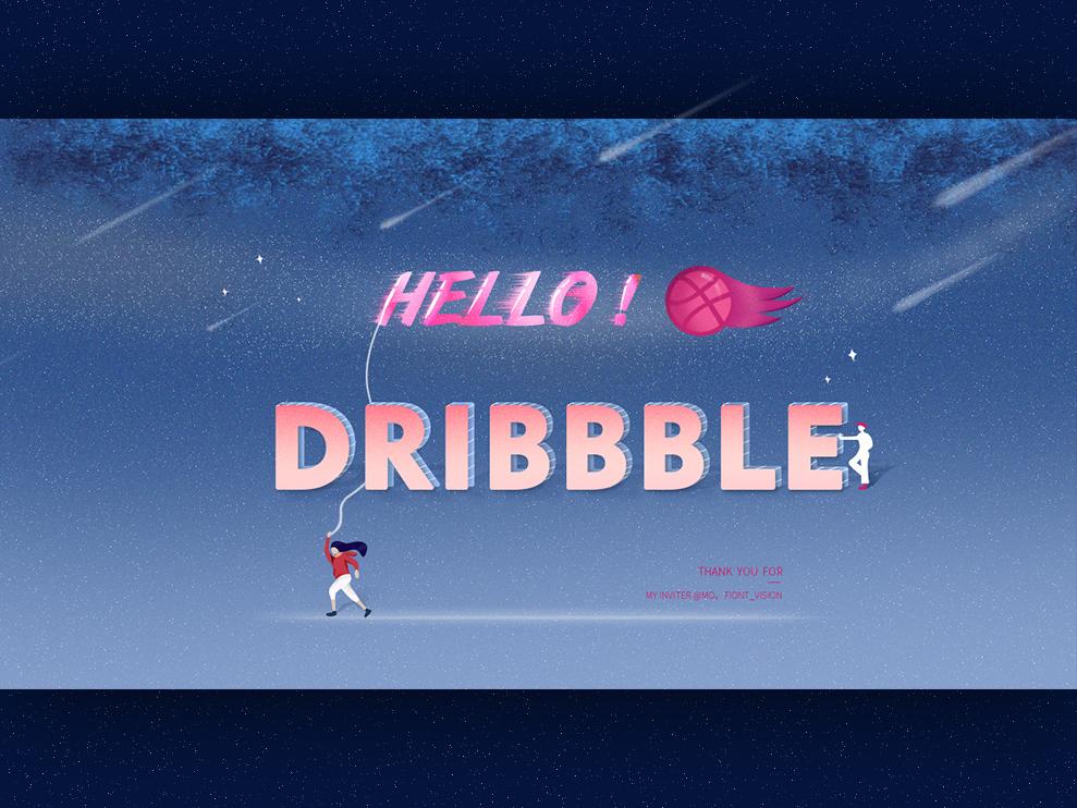 Hello dibbblers! 设计 插图