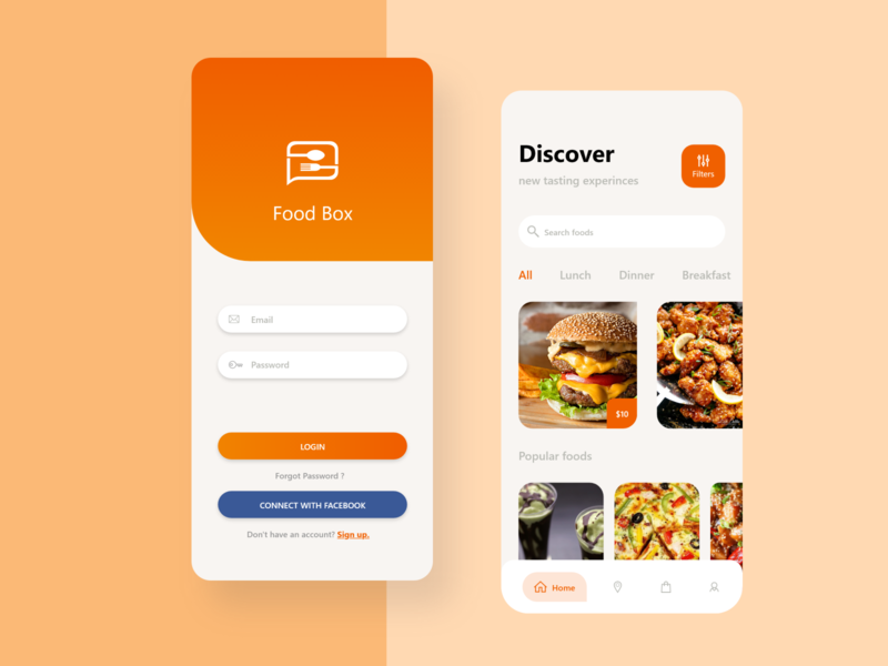Food Ninja ui resturant food and drink food app ui application uiux mobile ui design food delivery food and design food app food
