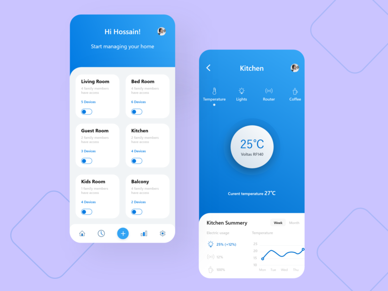 Smart home app design interface flat  design home figma adobe xd flat clean ui instagram ios app financial app ecommerce mobile app app design illustration branding ux ui hotel app home app