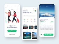 Traveling App mobile design applicaiton ios user interface app travel destination app design trip planner clean booking app mobile screen app ui traveling app travel travel app mobile app ui design ux ui