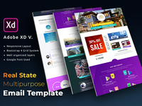 Email Newsletter Template With Adobe xd (Bootstrap 4)